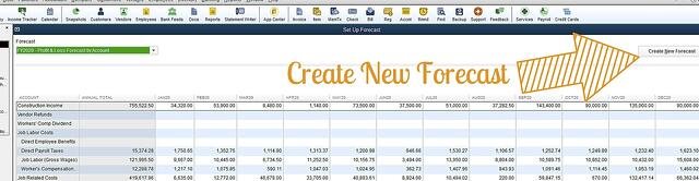 how to create a forecast in quickbooks