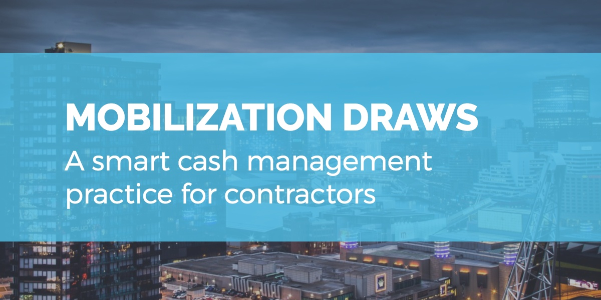 Mobilization draws: a smart cash management practice for